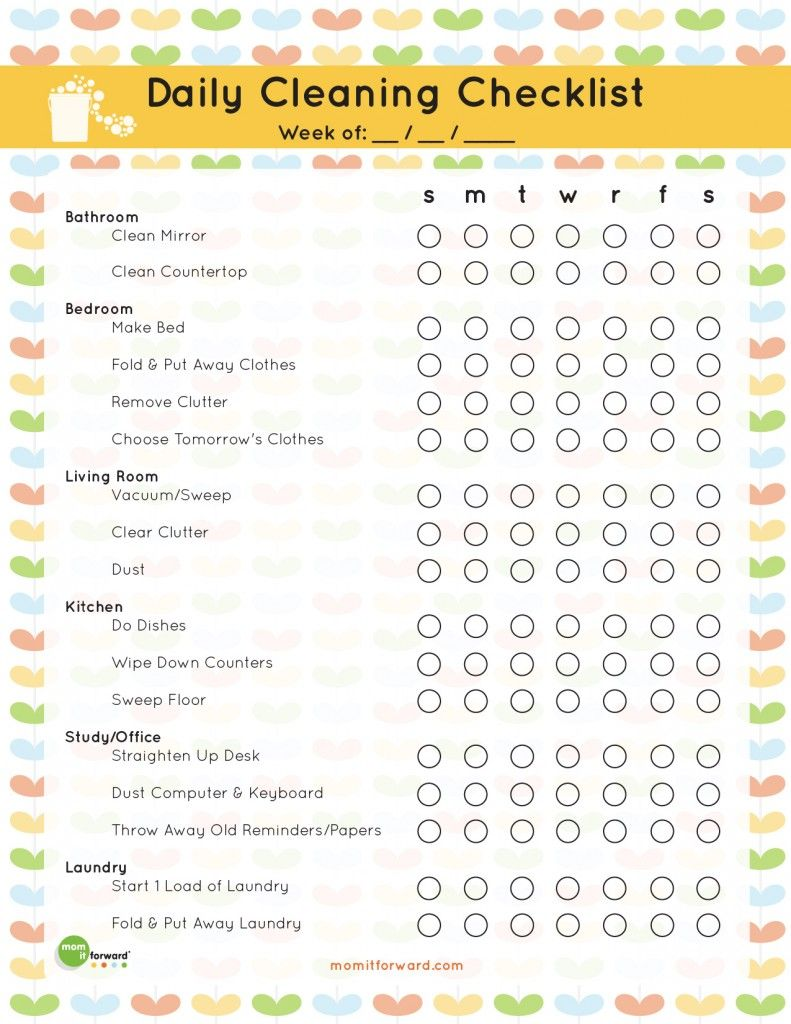 Download this weekly cleaning schedule for personal use only thank - Home Organization And Cleaning Doesnt Need To Be An Overwhelming Task With 55 Simple And