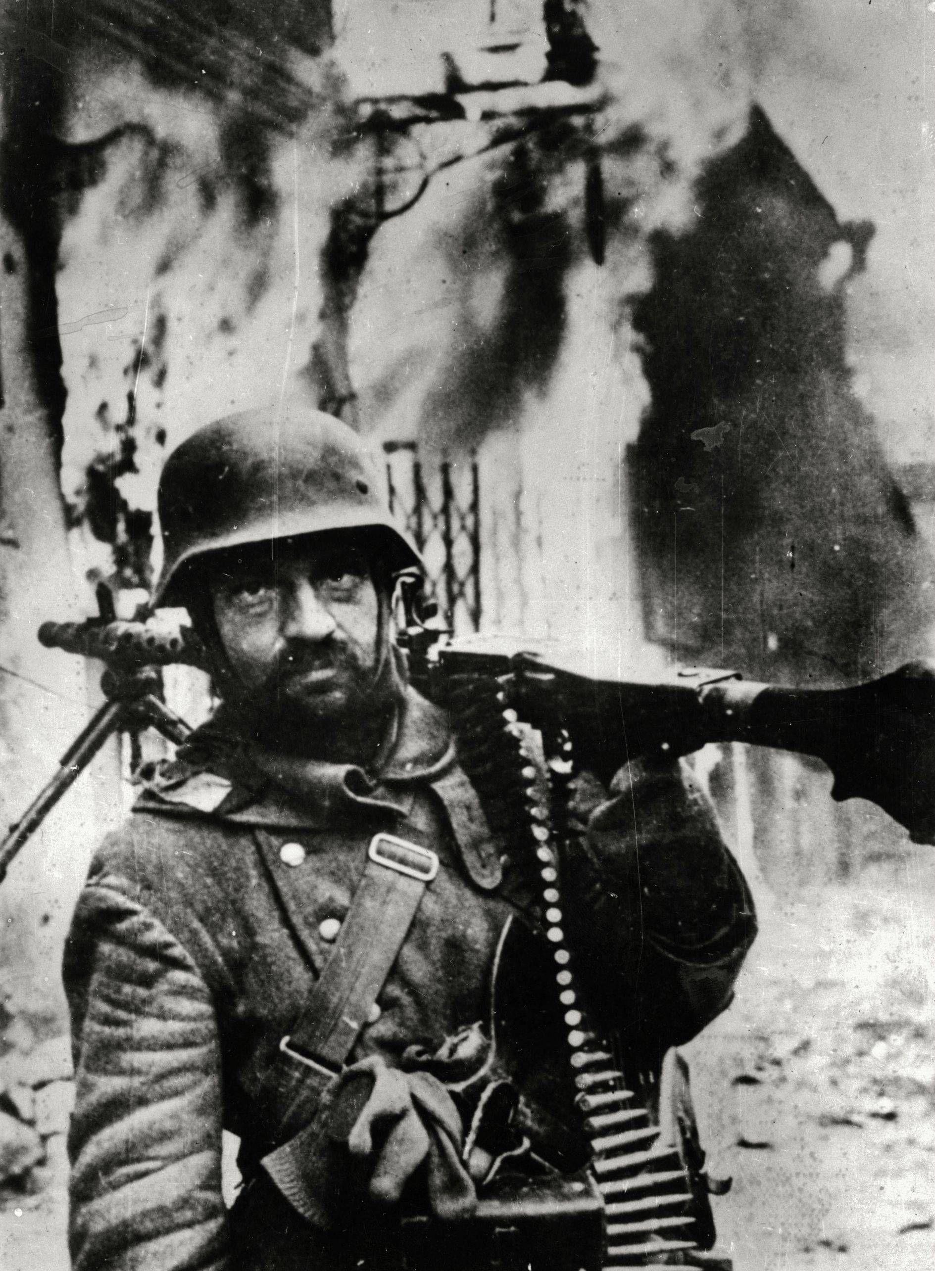 """""""Retreating German soldier"""", Zhytomyr, Ukraine, 1943"""