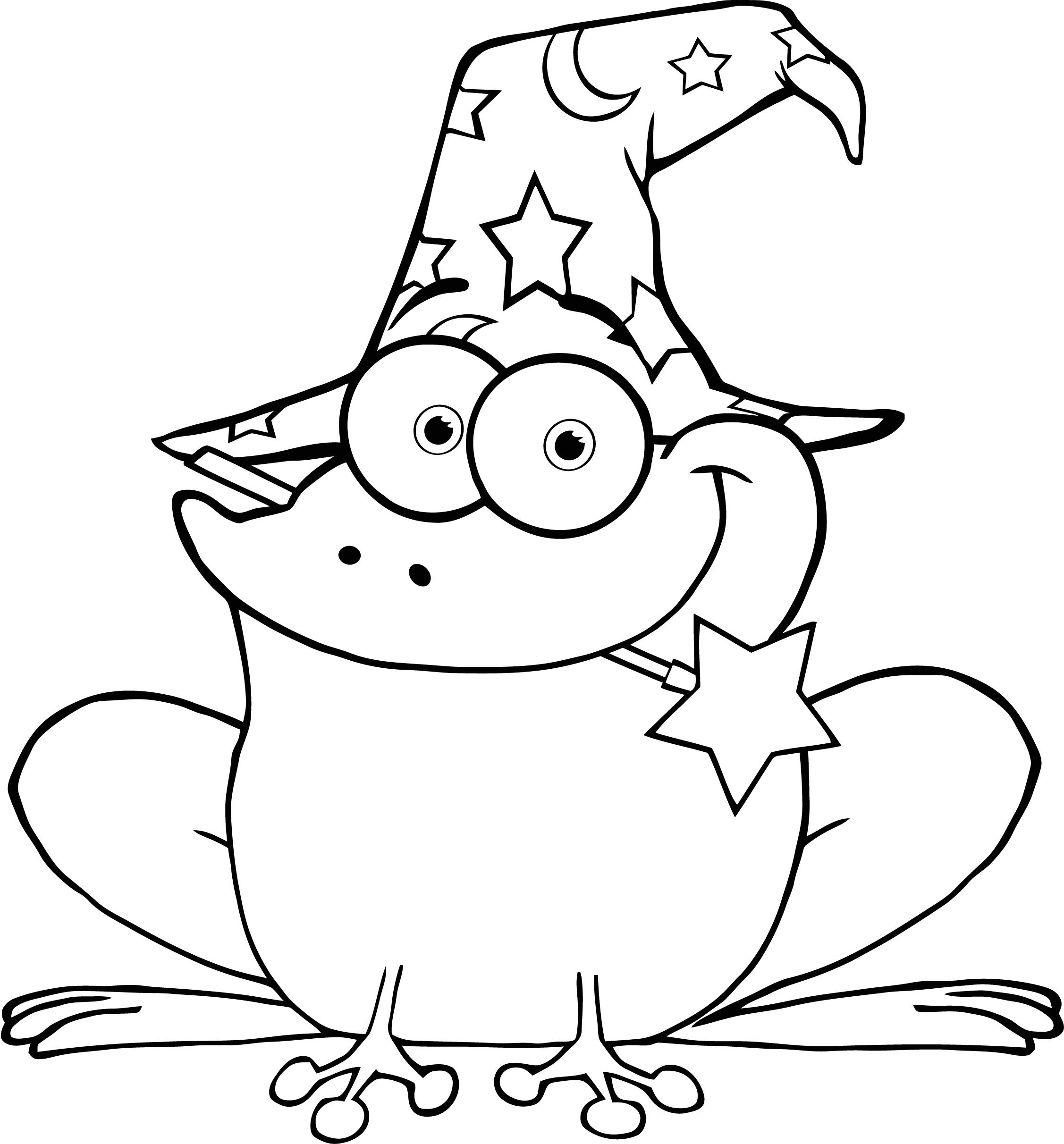 cute frog coloring pages for kids - Cartoon Pictures To Colour