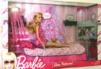 Best Amazon Com Barbie Glam Bedroom Furniture Doll Toys 400 x 300