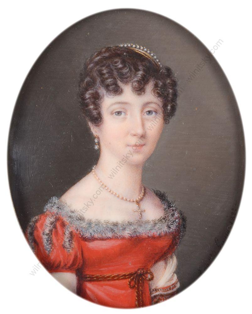 Pelagie Augustine Lamy, Portrait of a lady, 1822