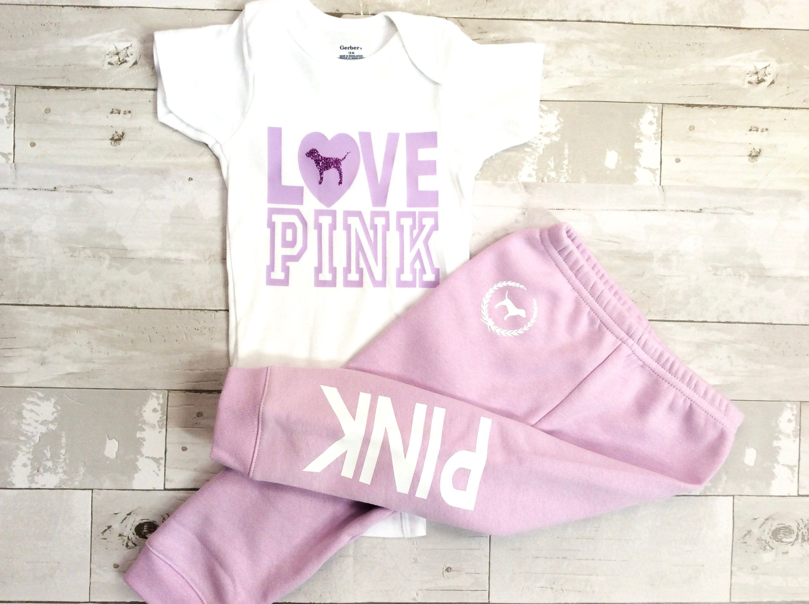 Toddler Baby Girls Love Pink Size 12 Months Fall Winter Sweatpants