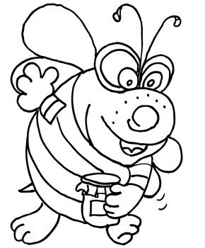 Bee Coloring Page. This site has tons of coloring pages