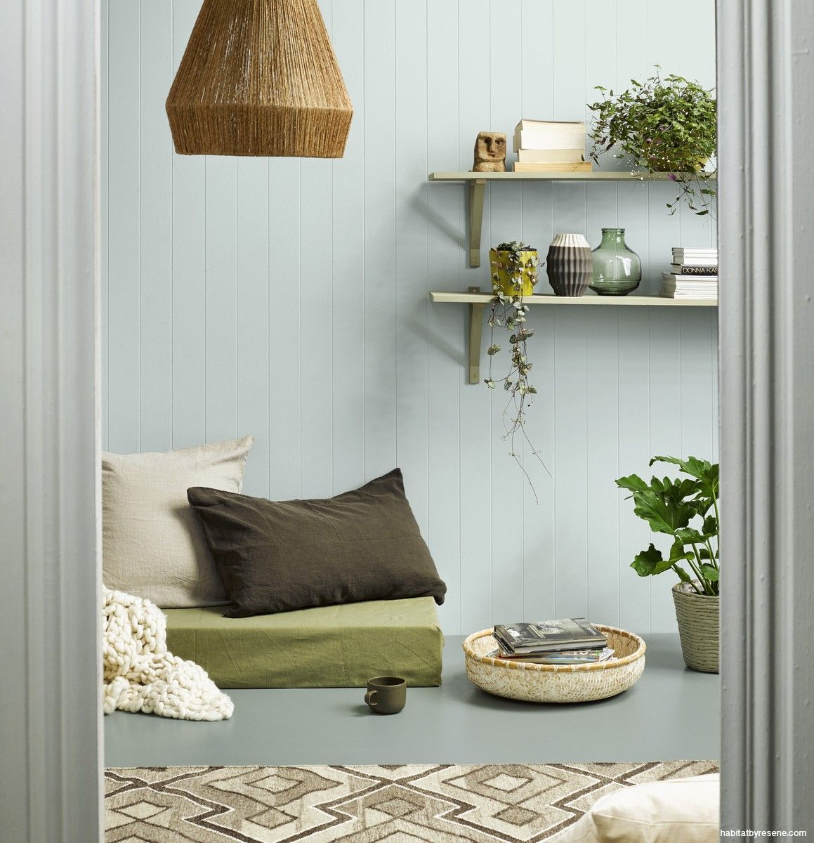 Soothing Resene Duck Egg Blue Walls, And A Resene Inside