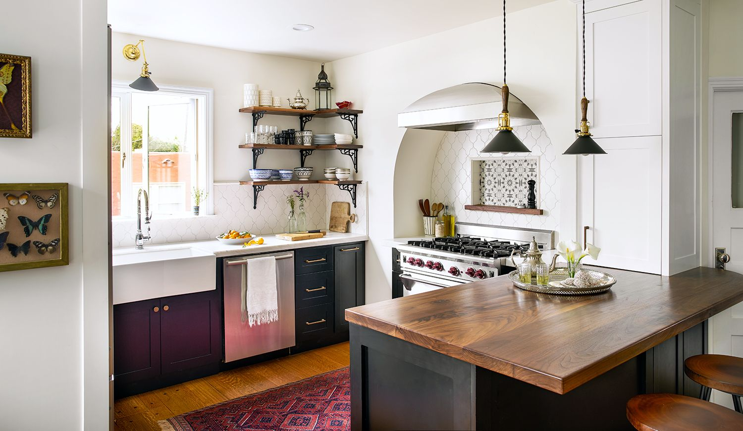 This kitchen has the overall feel of everything I love. Eclectic, a ...