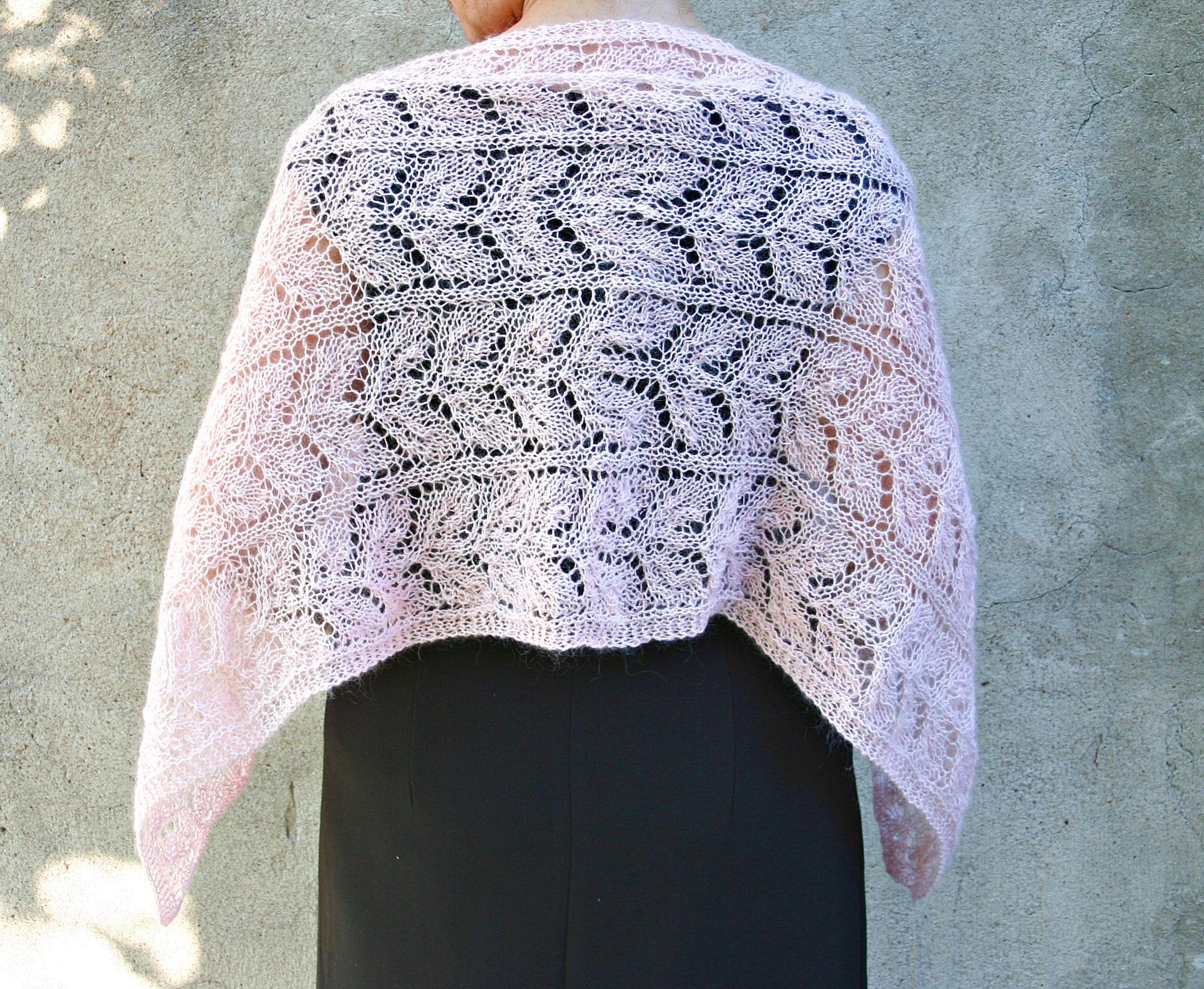 Elegant Lace Shawl Drops Pattern Ks 053 Drops