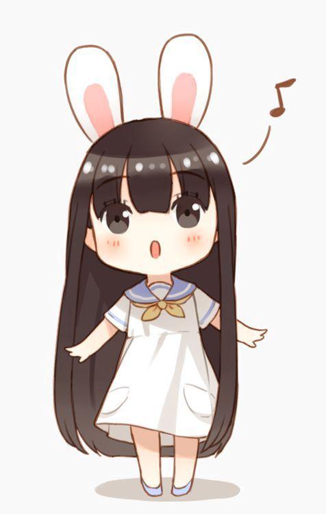صور انمي كيوت للكل Kawaii Chibi Chibi Bunny Cute Anime Chibi