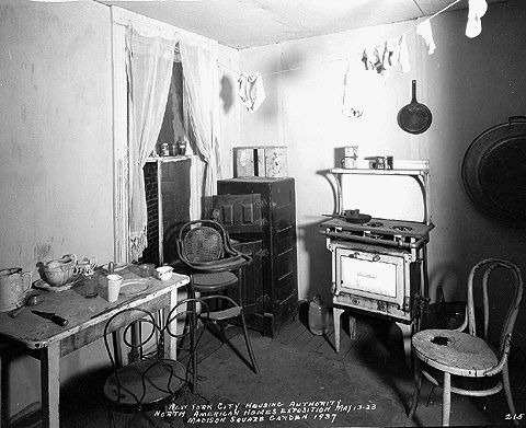 Not A Slum Kitchen In Tenement Apartment But Model Shown At The Nycha