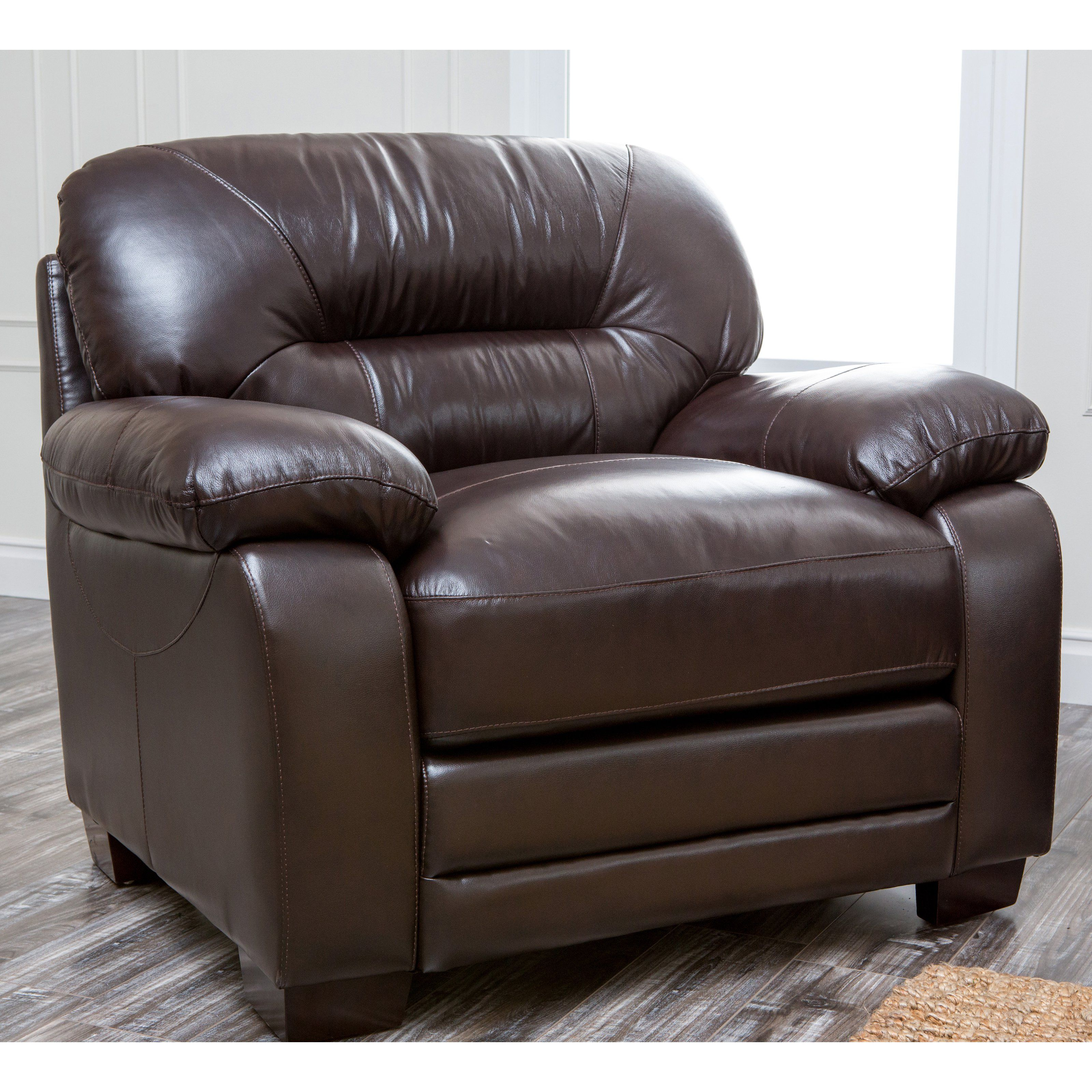 Superior Abbyson Brentwood Brown Leather Chair   CI 1307 BRN 1