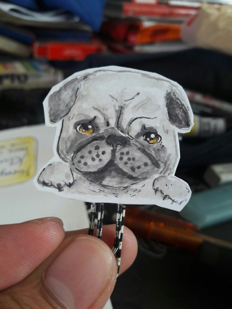 How About A Pug Book Mark Bookmarks Pinterest Bookmarks
