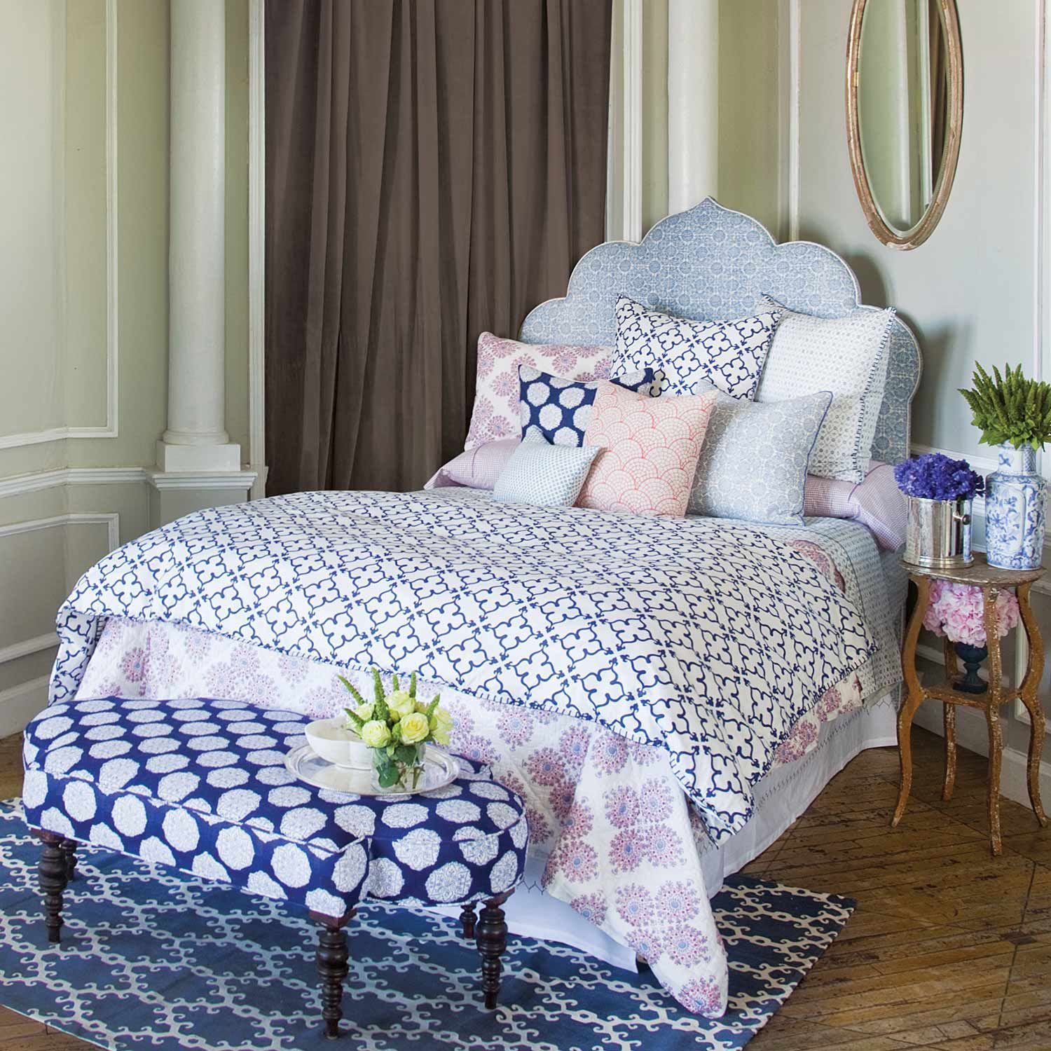 John Robshaw Textiles Pipal Indigo Bed Collections Bedding