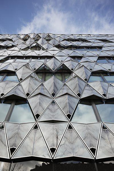 Origami Building Barclays Headquarters Paris France By Manuele