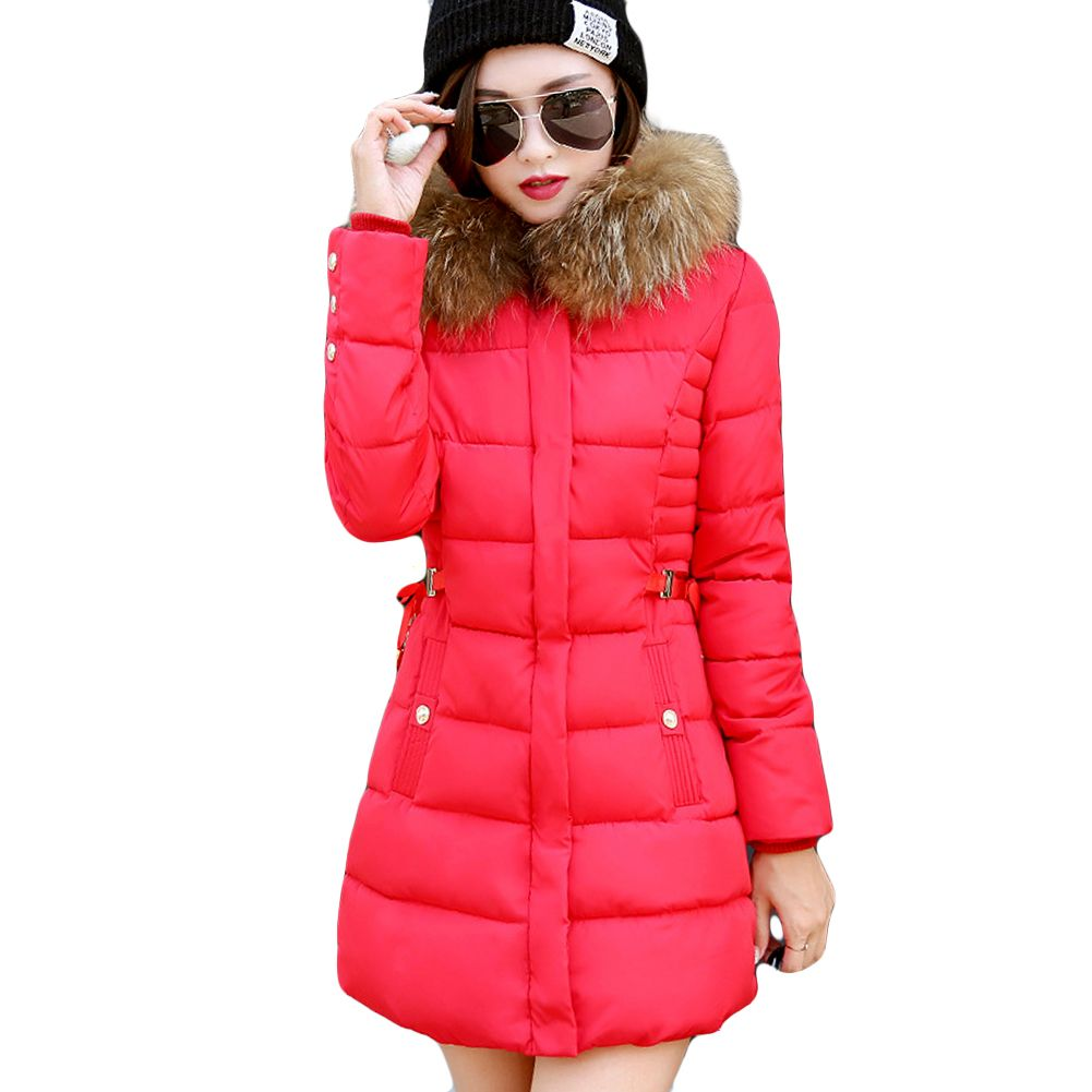 Women Synthetic Puffer Insulated Coat Faux Fur Hooded Red 3xl Winter Jackets Women Winter Jackets Warm Outerwear [ 1001 x 1001 Pixel ]