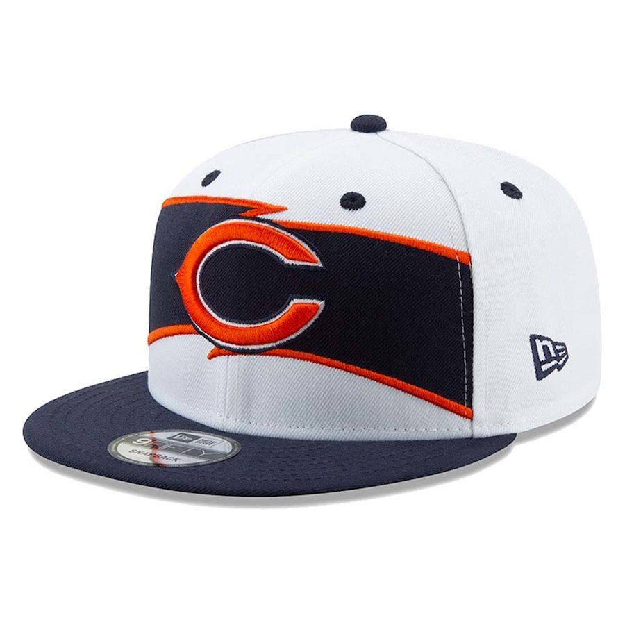 839b5bd00b9 Men s Chicago Bears New Era White Navy Thanksgiving 9FIFTY Snapback Adjustable  Hat