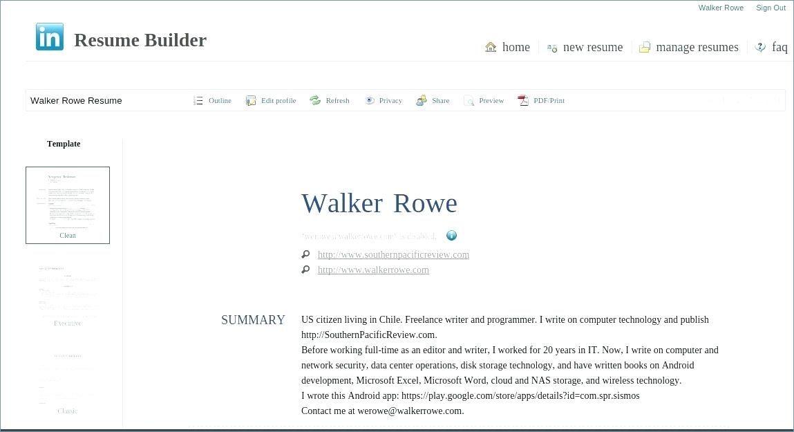 Linkedin Resume Template Generator Lovely To Of
