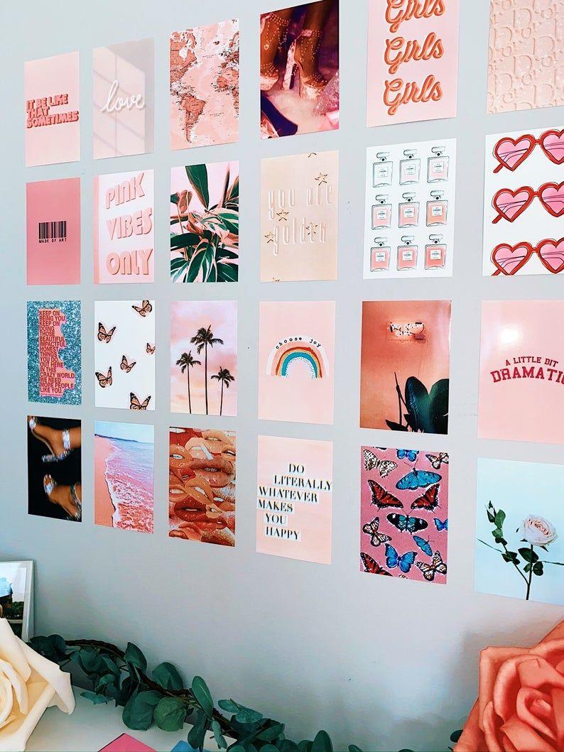 The Peachy Pink Print Pack Dorm Wall Teen Bedroom
