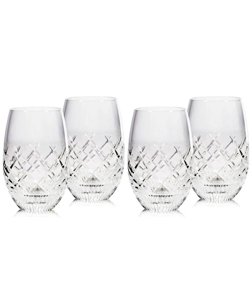 Waterford Eastbridge Stemless Wine Glasses, Set Of 4, Created For ...