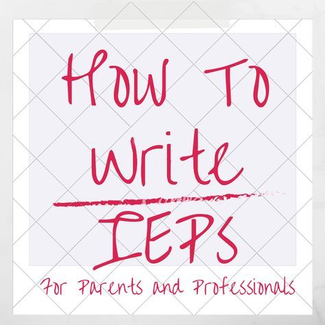 Imagine that you show up to an IEP (Individualized Education Plan