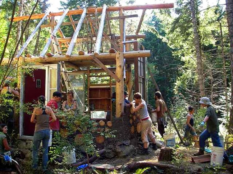 Pictures Of Cordwood Homes Construction