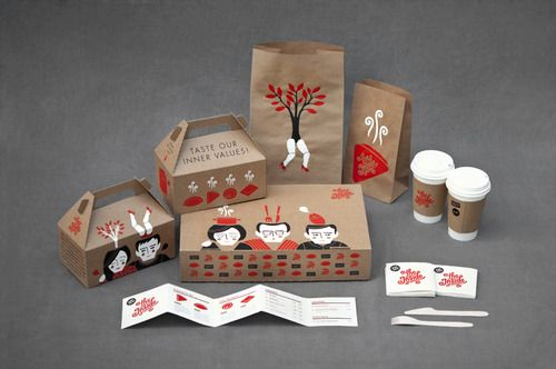 This Is A Creative Way To Package Food For A Chinese Restaurant And It Much Fresher Than The Normal Take Out Box Kemasan Desain Ide Kemasan Desain Kemasan