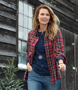 207523da65d39a Women s Scotch Plaid Flannel Shirt