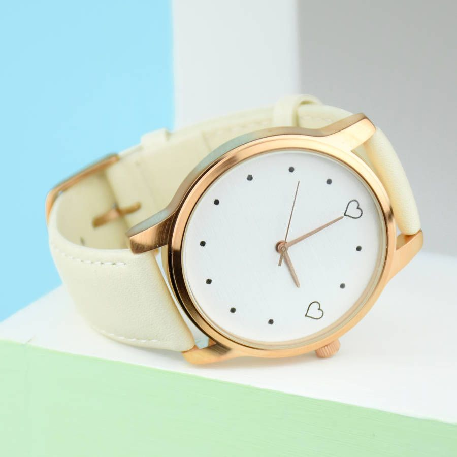 Personalised Special Time Love Heart Watch