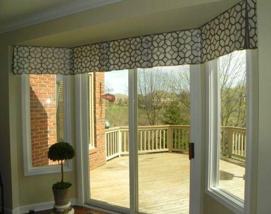 valence for bay window w sliding door