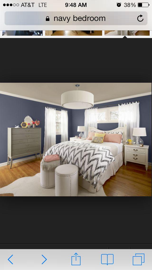 Navy bedroom idea