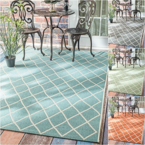 nuLOOM Modern Trellis Outdoor Indoor Porch Rug featuring polyvore
