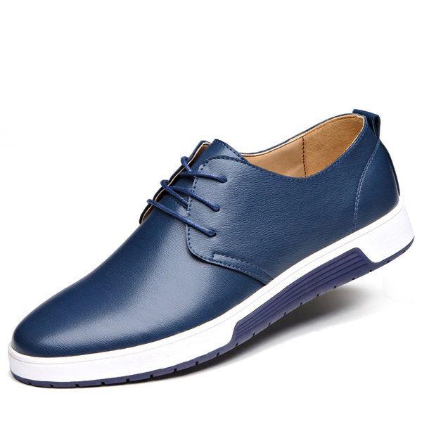 Blivener Casual - Zapatos de cordones de Otra Piel para hombre, color negro, talla 42.5