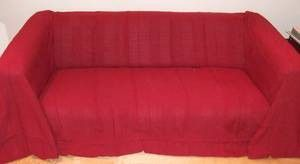 100% Cotton Red/Cranberry Extra Large 3 Or 4 Seater Sofa Throw 225x350 Cms