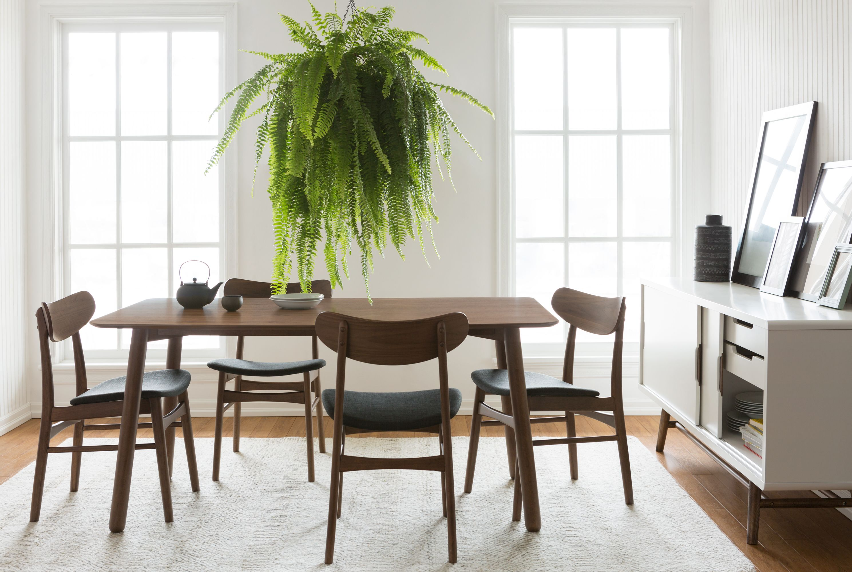 Charcoal Bentwood Dining Chair Structube Houston Modern Dining