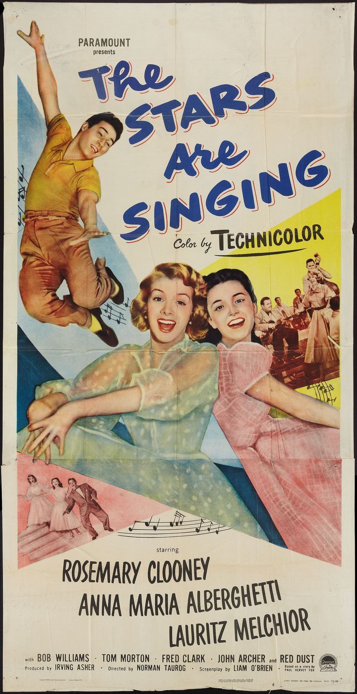 Best Film Posters The Stars Are Singing 1953 Stars Rosemary Clooney Anna Maria Alberghetti La Dear Art Leading Art Culture Magazine Database Rosemary Clooney Musical Movies Movie Posters Vintage