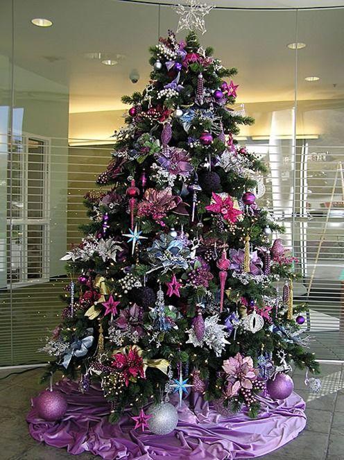decoracion-arboles-de-navidad color-purpura Mi casa Pinterest