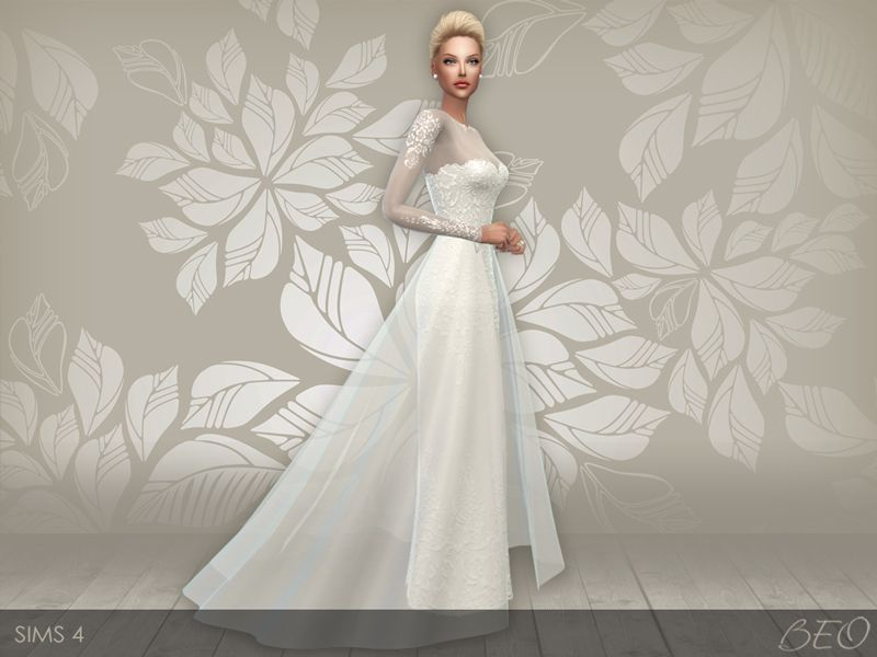 Lana CC Finds - Wedding dress 28 by BEO | TS4 Clothing - Female ...