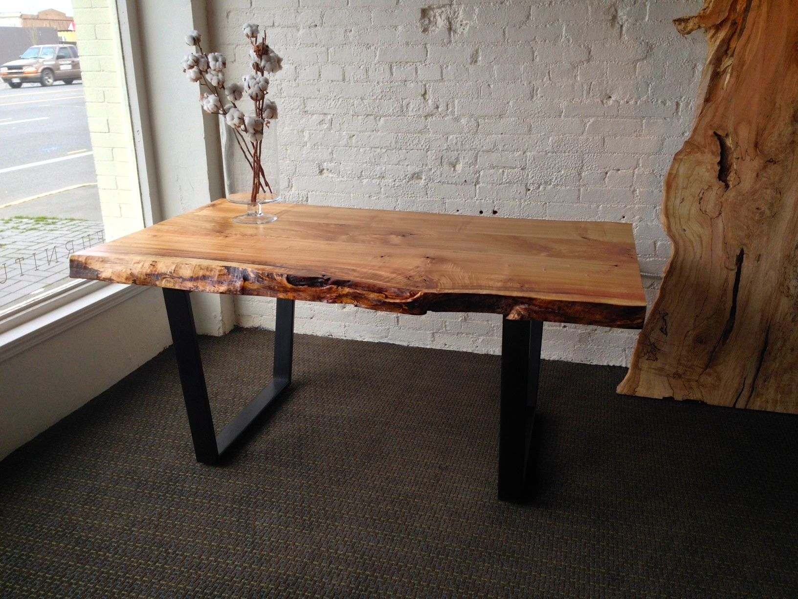Tapered Coffee Table Legs Churchwood Dining Table 66 Inches Long Tapered Black Metal Legs