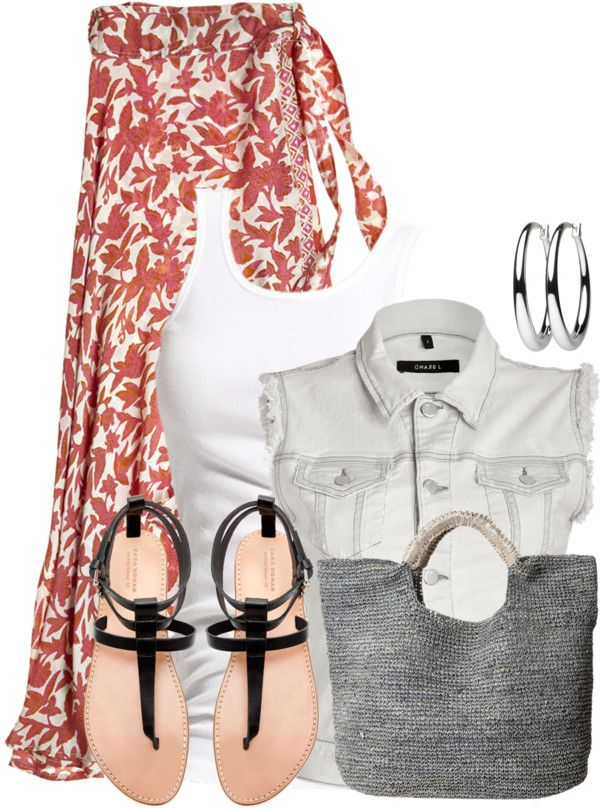 a3f4dbb8cd5 35 Pretty Maxi Skirt Outfits Polyvore Combinations This Summer - Be Modish  - Be Modish