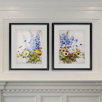 Alcott Hill Wild Garden 2 Piece Picture Frame Graphic Art Print Set On Paper Wayfair In 2020 Art Print Set Wildflower Decor Print Sets