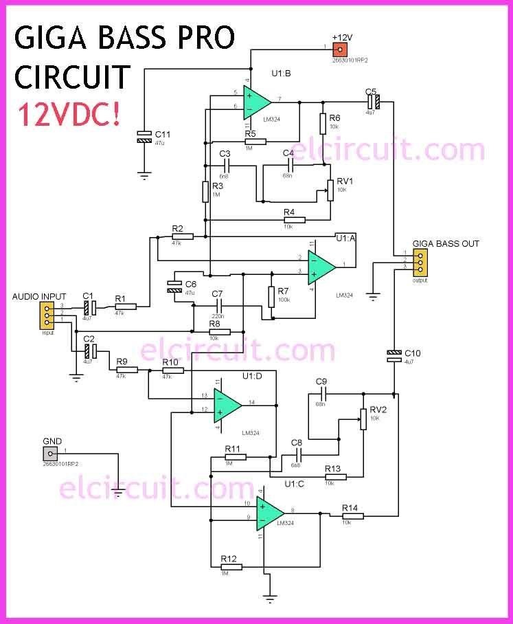Lm324 Giga Bass Pro Circuit Circuits