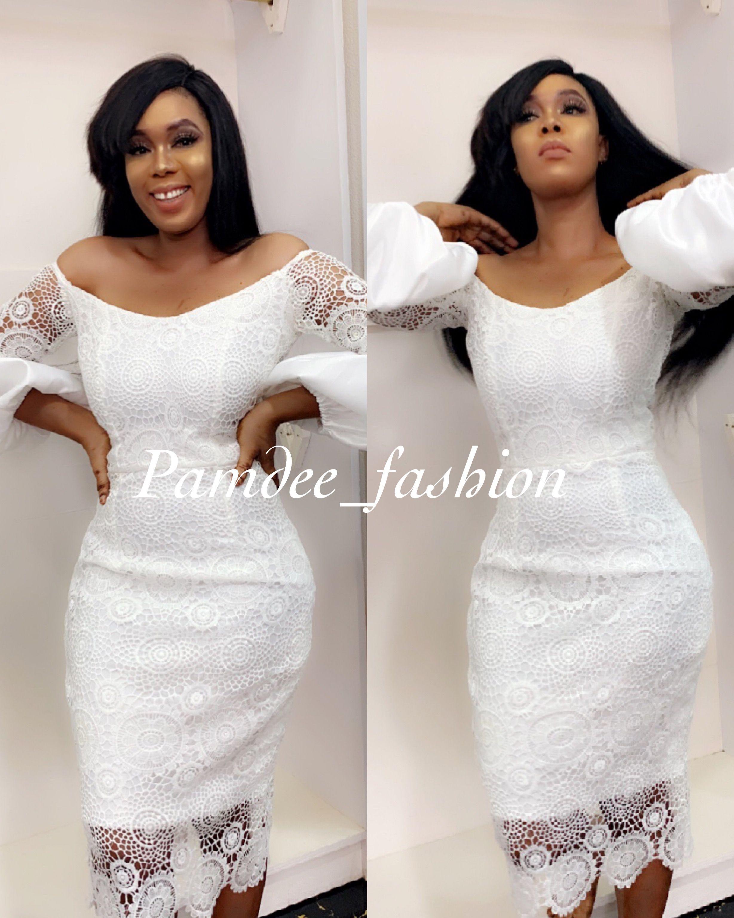 Pin By Pamdee Fashion On Pamdee African Lace Dresses Simple Lace Dress African Lace Styles