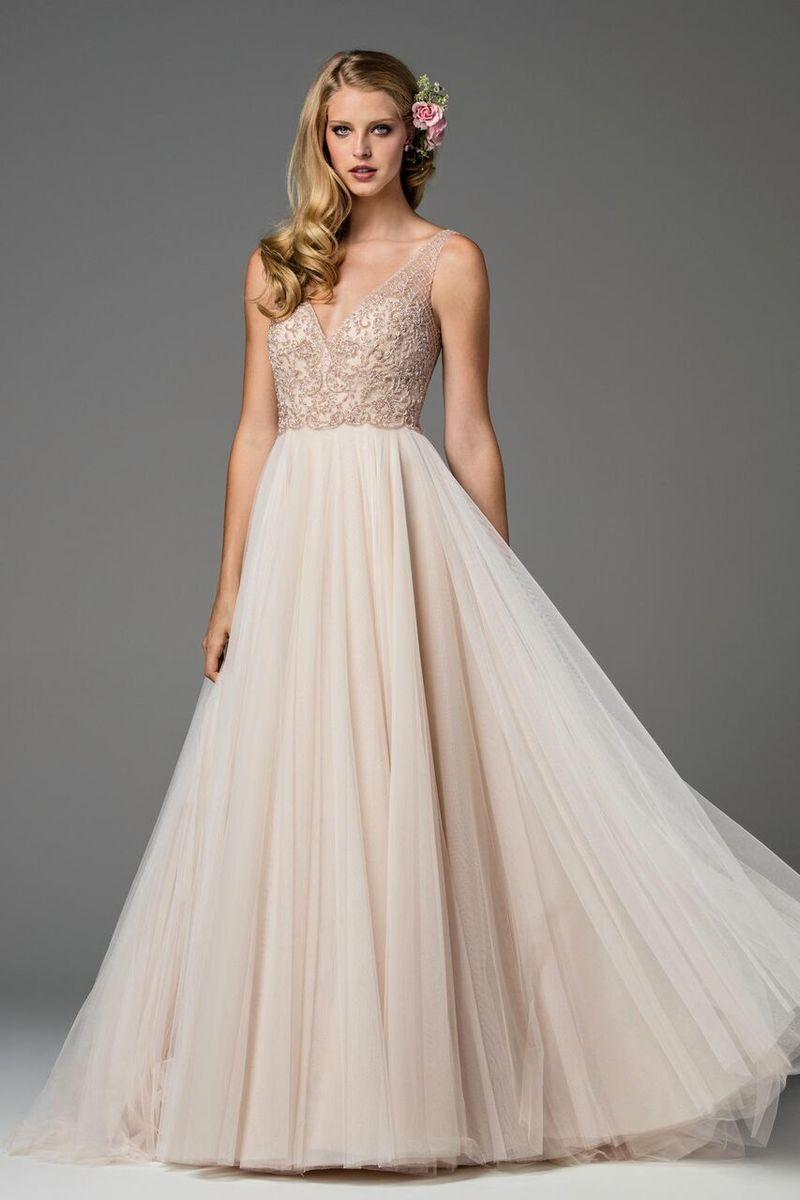 Watters wedding dress ora blush bridal wedding dress and weddings