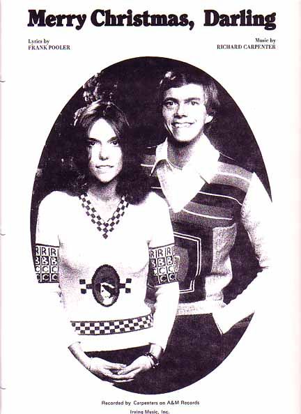 merry christmas darling 1970 sheet music with the carpenters
