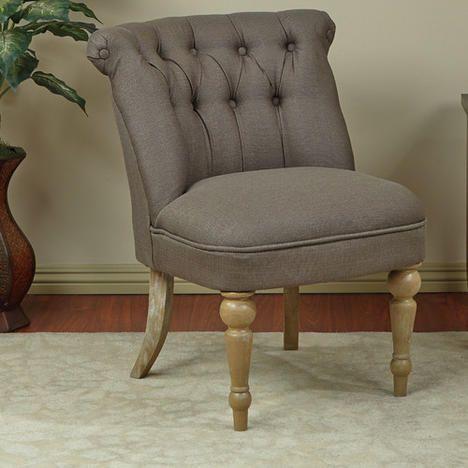 Avenue Six Aubrey Tufted Slipper Chair   Color: Klein Otter 4