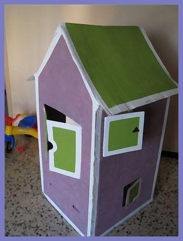Como Hacer Una Casita Infantil De Cartón Manualidades Para Niños Casa De Cartón Cajas