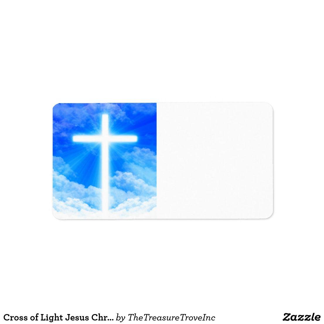 Cross Of Light Jesus Christ Customizable Christian Label Zazzle Com Christian Messages Jesus Christ Christ