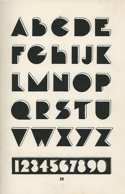 Vintage Modern Typography Alphabet From Lettering Of Today 1930