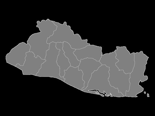 Grey Map Of El Salvador With Departments Free Vector Maps Map Vector Vector Free El Salvador