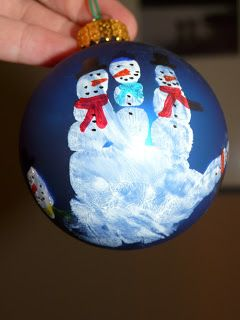 Children's Learning Activities: Snowmen Ornaments