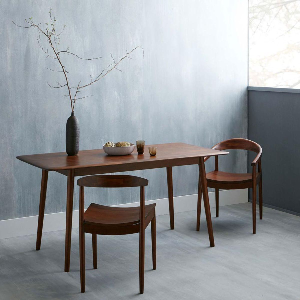 West Elm Lena Mid-Century Dining Table and Lena chairs - but at 76cm ...