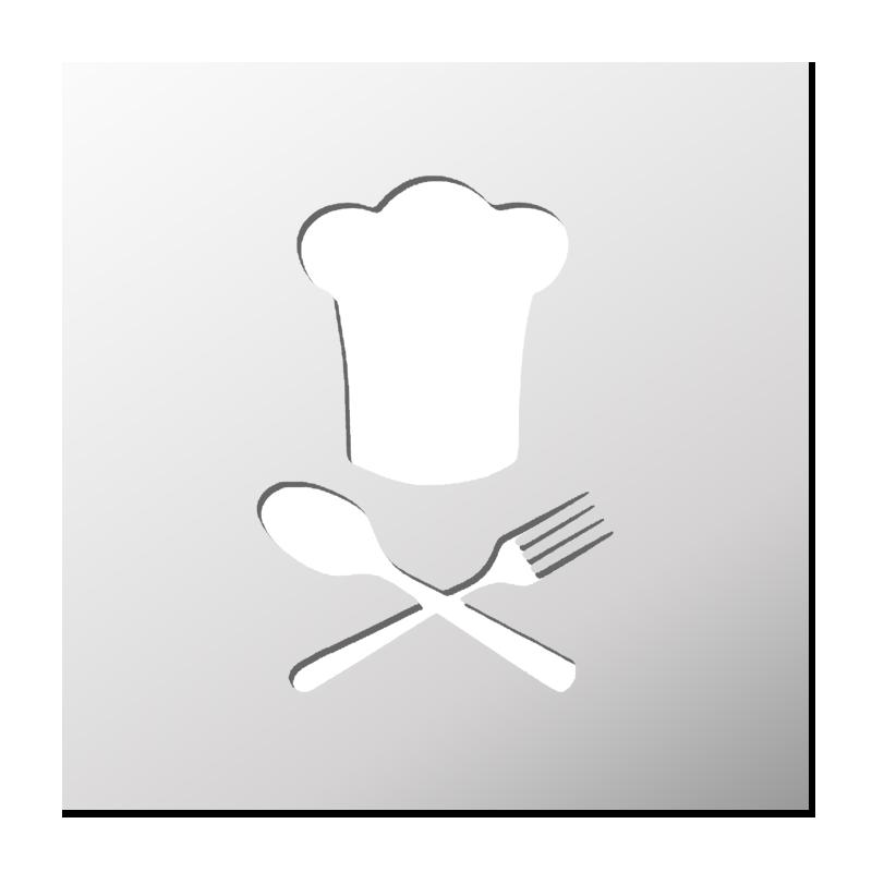 Pochoir chef de cuisine boutique pochoirs stickers for Pochoir cuisine